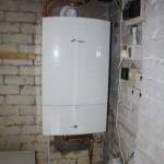 Outside Boiler Install